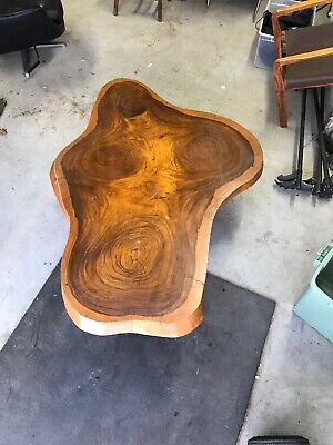 "Massive Slab Live Edge Wood Coffee Table 63""x 45""x2.25"" Great Graining Cape Cod"