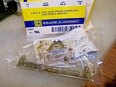 New Square D 9999Sx8 Electrical Interlock Size 00-7 1 N.o  1  N.c