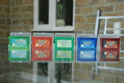 Pokemon Gameboy Game Bundle- Fire Red, Emerald, Leaf Green, Ruby and Sapphire