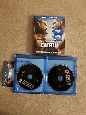 CREED II (2019, BLU-RAY + DVD + DIGITAL)Free First Class Shipping