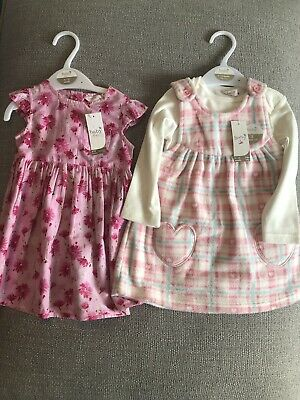 M&Co Baby Girls Dresses New With Tags 9-12 Months