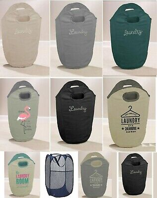 Diamante Folding Laundry Bag Hamper Dirty Clothes Storage Washing Basket Bin New