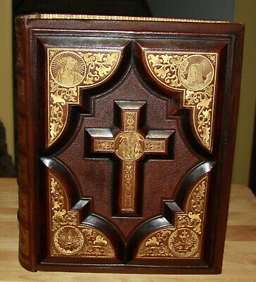 Books Bright Antique 1859 Catholic Bible Douay Rheims Original Nice