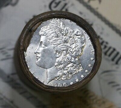 Silver Dollar Roll $20 Morgan Peace 1889 & 1900 End Coins Mixed Date Grades