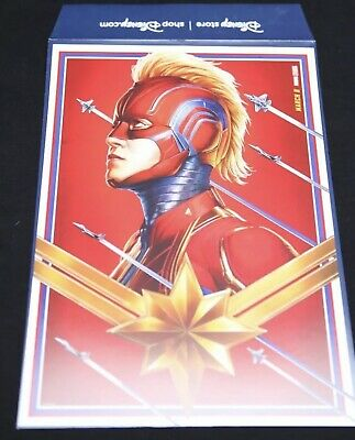 Disney Store Marvel Studios Captain Marvel Lithograph Poster Limited Release