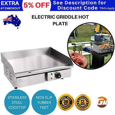5 Star Chef Electric Griddle Hot Plate 3000W Cooktop BBQ Cook Benchtop