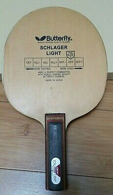 Used Discontinued Black Tag Schlager Light ST Table Tennis Blade/ Racket/ Paddle