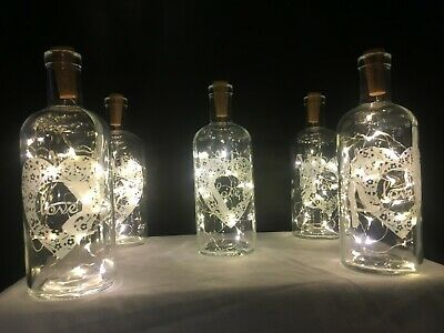 Wedding Party Table Decorations Cork Lights Vase Centrepiece Wine Bottle Numbers