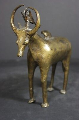 African bronze statue of a Mythical Animal, DOGON tribe, TRIBAL ART PRIMITIVE