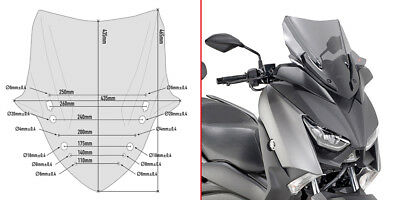 Givi SCREEN Windshield Yamaha X-Max 400 2018 WINDSCREEN Lower Smoked Sport D2136