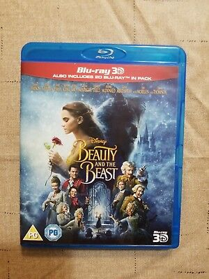 Beauty and the Beast 3D (Blu-ray 3D/2D) with slip cover DISNEY 2017