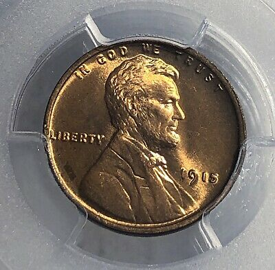 1915 Lincoln Cent 1C Penny PCGS MS-66 RD