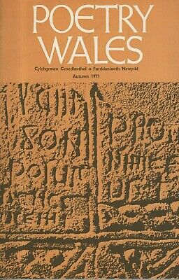 POETRY WALES (Autumn 1971) WALDO WILLIAMS-LESLIE NORRIS-GLYN JONES-JOHN ORMOND
