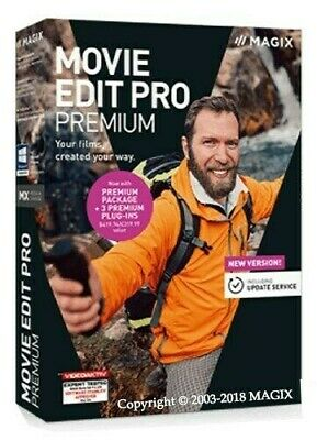 MAGIX Movie Edit Pro 2019 Premium + Content  /|  Instant Download  /| Windows