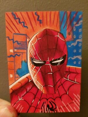Spiderman into the spiderverse ACEO Sketch Card