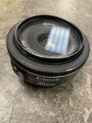 Canon EF 40mm F/2.8 STM Pancake Lens Good Working Order