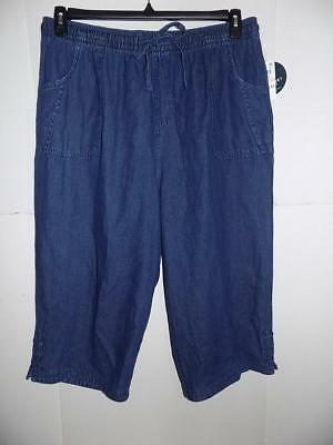 1-  Karen Scott Womens Plus Denim Comfort Waist Capri Pants NWT Size 2X 19