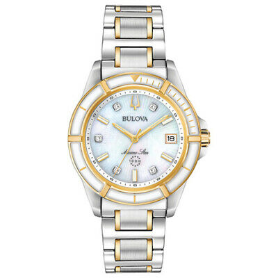 Bulova 98P186 Women's Marine Star Diamond-Accent Two-Tone Stainless 34mm Watch