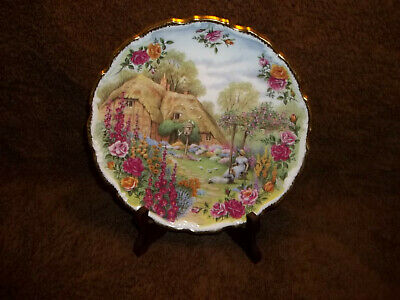 Royal Albert F Errill l30th Anniversary Old Country Roses Plate Tranquil Gardens