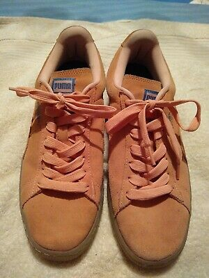 00a2b444814b PUMA Pink Dolphin Suede PD Mens Shoe Size 9.5 362216-02 Coral Pink Blue
