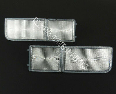Vw Passat B4 1994 - 1996 Front Pair Bumper Reflector Light Lens Set Left + Right