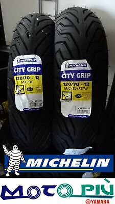 Coppia Gomme Pneumatici Michelin City Grip 120/70-12 130/70-12 Dot 2019