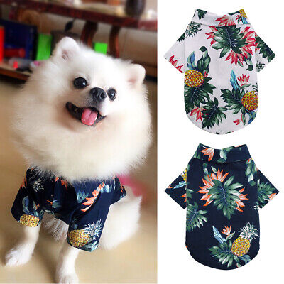 Small Dog Cat Clothes Cotton T Shirt Pet Puppy Summer Mesh Embroidered Clothes