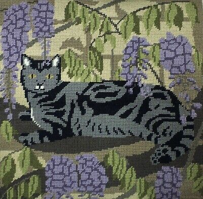 Sarah Beecham - The Wisteria (Bough) Cat - Tapestry Needlepoint Kit