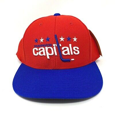 737880163041a American Needle Washington Capitals Tradition Wool Adjustable Snapback Hat  - New