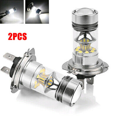 2* Super Bright White H7 100W CREE LED Fog DRL Driving Car Head Light Lamp Bulb