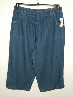 Karen Scott Womens Plus Denim Comfort Waist Capri Pants NWT Size 2X X 19 A6