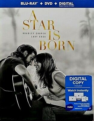 A Star Is Born (Blu-Ray+DVD+Digital) 2019