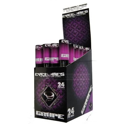 Cyclone Blunt Wraps Clear Grape Full Box of 24