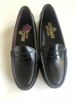59bb917ded3 NEW WOMENS BURGUNDY Sebago Leather Penny Loafers Shoes Sz 6.5 ...