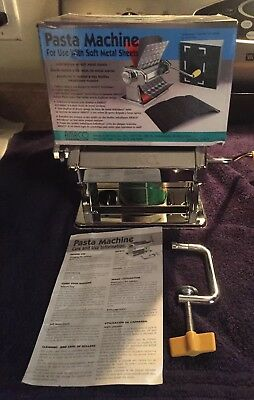 AMACO Crafting Pasta Machine for Polymer Clay Soft Metal Sheets 7 Settings -New!