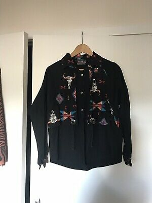 Vintage Rodeo Cowgirl Pattern Short Small 8/10