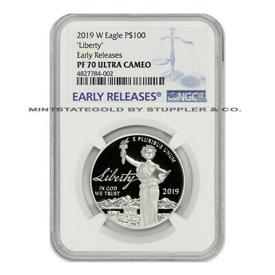 2019-W $100 Platinum Eagle NGC PF70UCAM Early Releases Ultra Cameo Proof 1oz