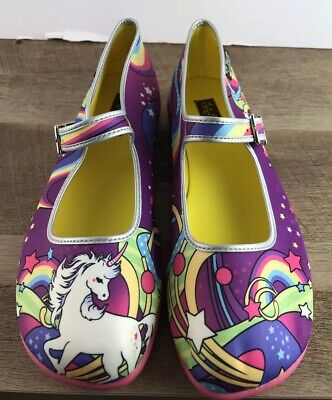 85a67d4308ec Chocolaticas Hot Chocolate Unicorn Lucy In The Sky Mary Jane Flats  Shoes—NEW! 10