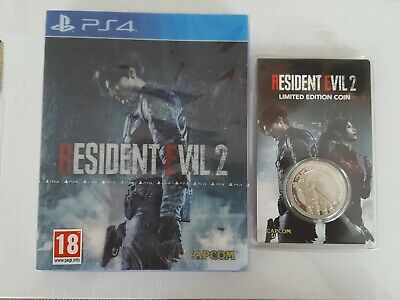 Resident Evil 2 Ps4 Neuf Edition Limitee Lenticulaire + Piece Collector Silver