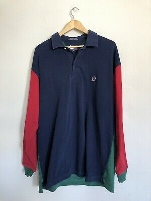 9c048b6c2cf Vintage 90s TH Tommy Hilfiger Polo Rugby Shirt Mens XL Embroidered Striped