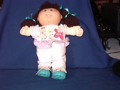 Cabbage Patch Girl Doll with Brown Hair Blue Eyes. With Birth Certificate.