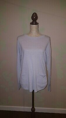 The White Company back button baby blue jumper Size 12