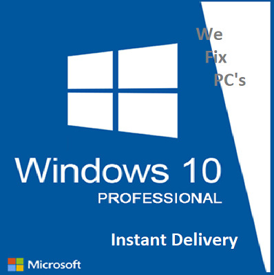 Windows 10 Professional PRO 32/64Bit Full Version Product Key Instant Delivery