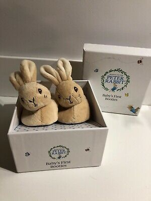 Brand new peter rabbit baby booties in box - unisex