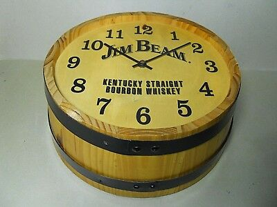 Orologio Da Muro Jim Beam Bourbon Whiskey Botte Legno Vintage
