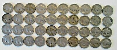 40 Buffalo/Indian Head Nickels Full Dates Includes 5 Denver, 1 SF