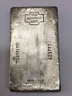 The Republic Mint 100 oz Silver Bar Impossible Find