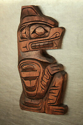 N.w. Native Carved Bear Plaque By Gino Seward Vancouver Island