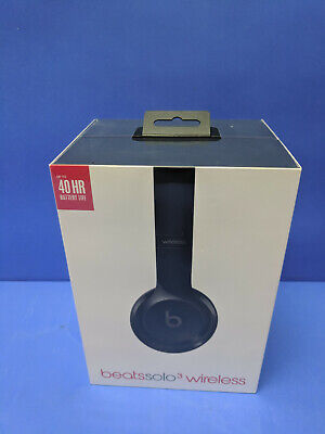 Beats By Dr Dre A1796 Solo3 Wireless  Gloss Black Headphones  New In Sealed Box