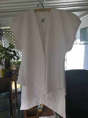 Covers 1980's White Two Piece Suit Size 10